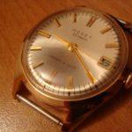 Часы мужские «Полет» с кожаным ремешком.